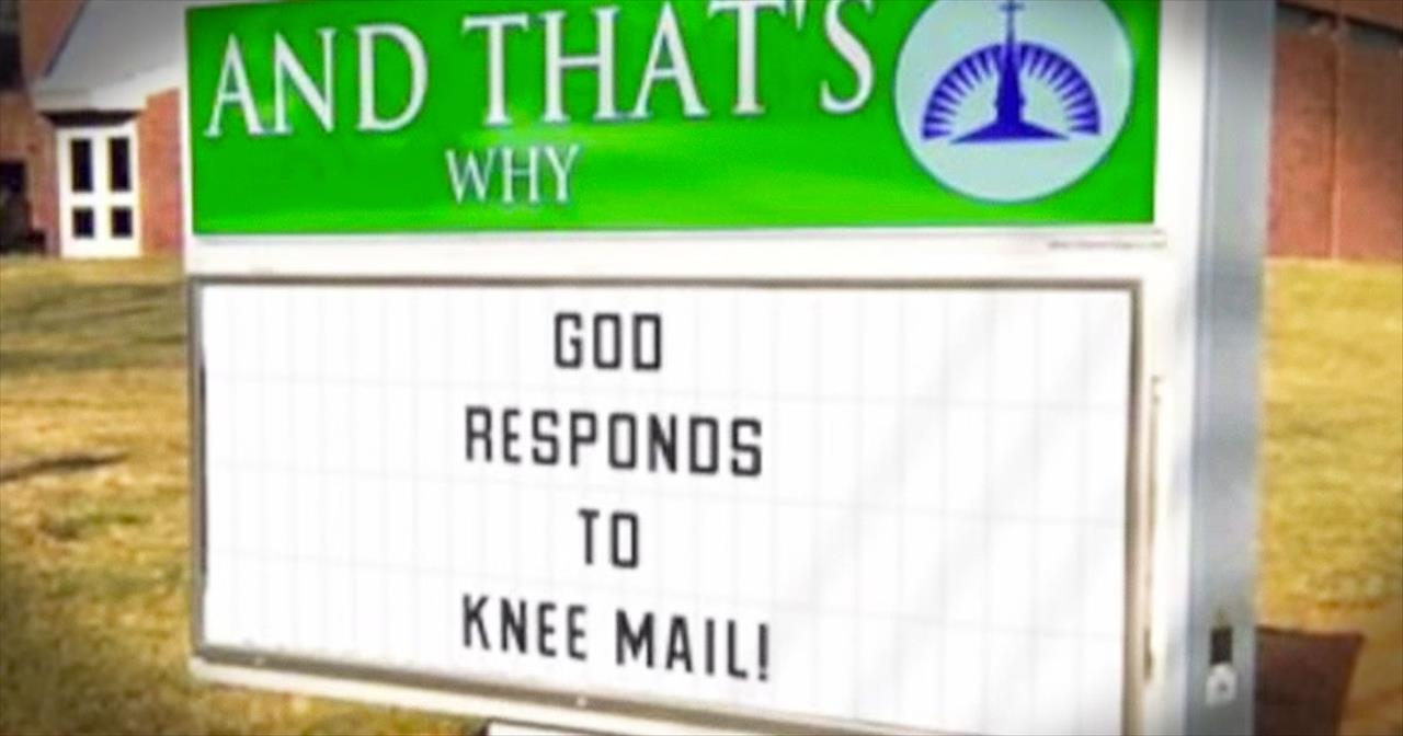 Pop Song Gets Hilarious Church Signs Makeover