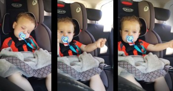 Little Boy Wakes Up When His Favorite Song Comes On