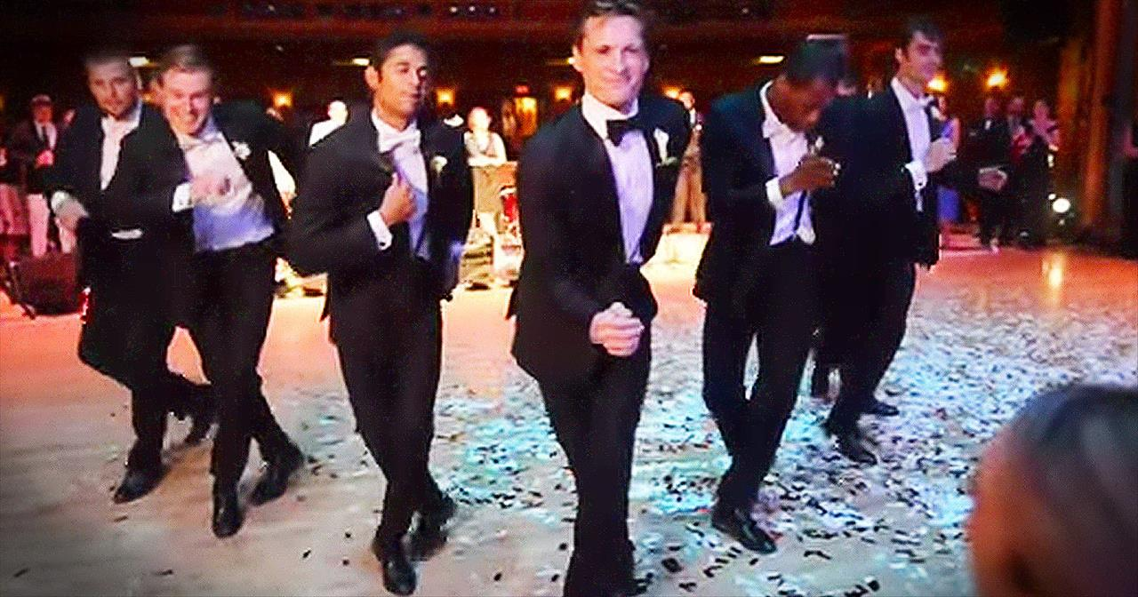 Professional Dancer Surprises Ballerina Bride With EPIC Groomsmen Dance