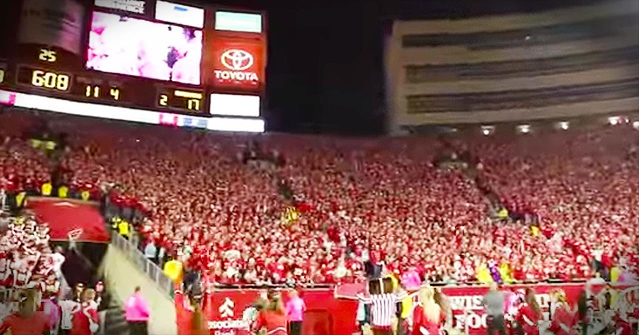 Entire Stadium Sings 'Buttercup' During Football Game
