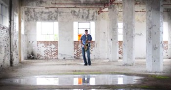 He Started Playing A Saxophone In An Empty Warehouse...CHILLS!