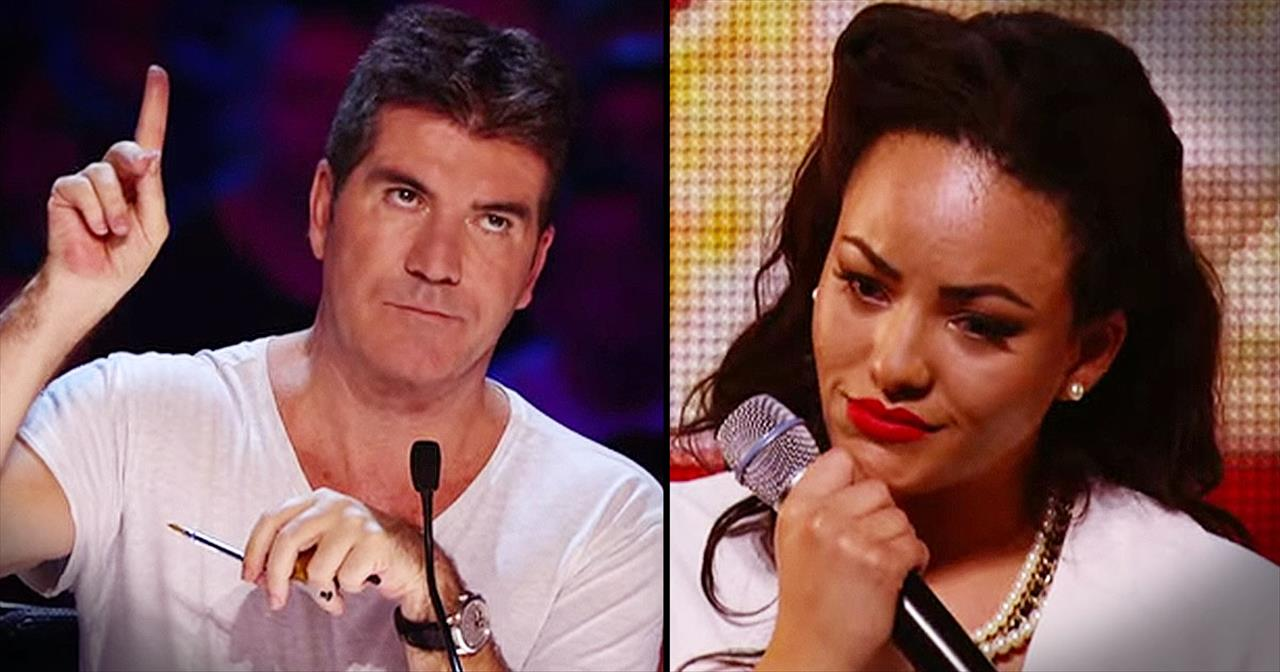 Simon Stops Heartbroken Singer's Audition. But Then She Comes Back With THIS!