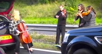 String Quartet Puts The 'Jam' In Traffic Jam!