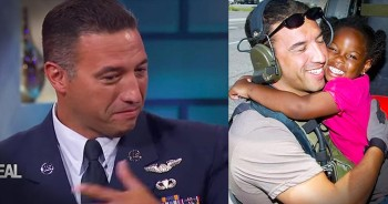 Military Man Chokes Up At Reunion With Girl He Saved During Hurricane Katrina
