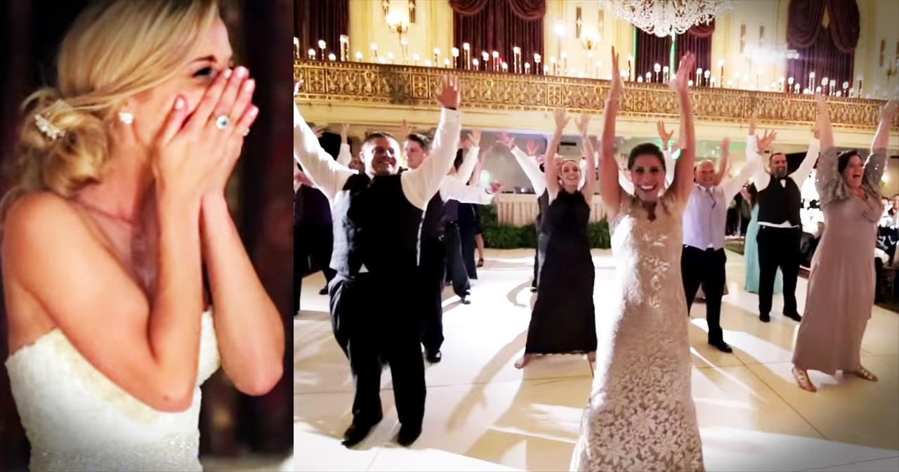 Family Surprises Bride And Groom With AMAZING Flash Mob