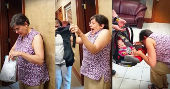 New Grandma Receives The Surprise Of A LIFETIME!