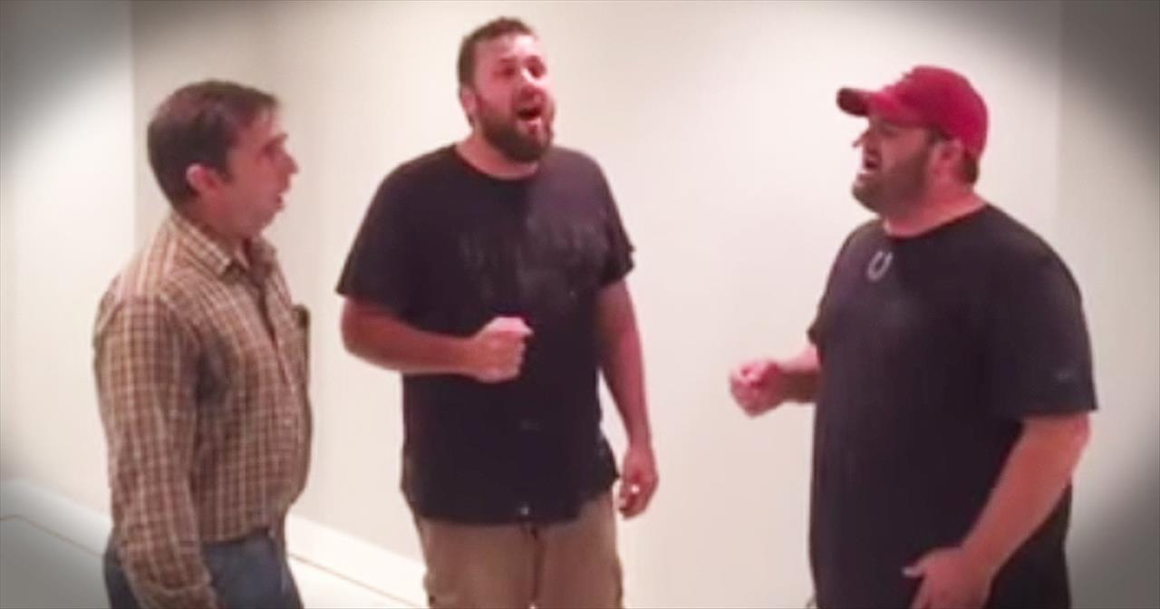 3 Gospel-Singing Contractors Bring CHILLS With 'How Great Thou Art'