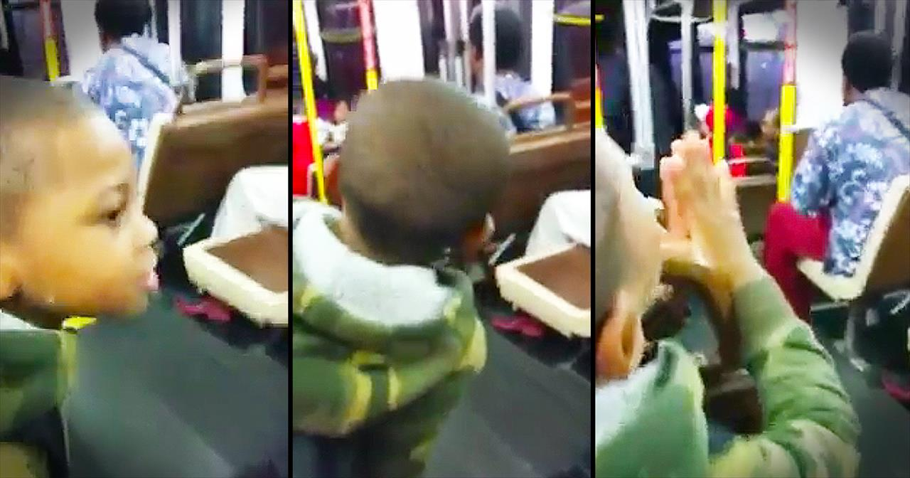 Adorable Little Boy Has The WHOLE Bus Singing To Jesus