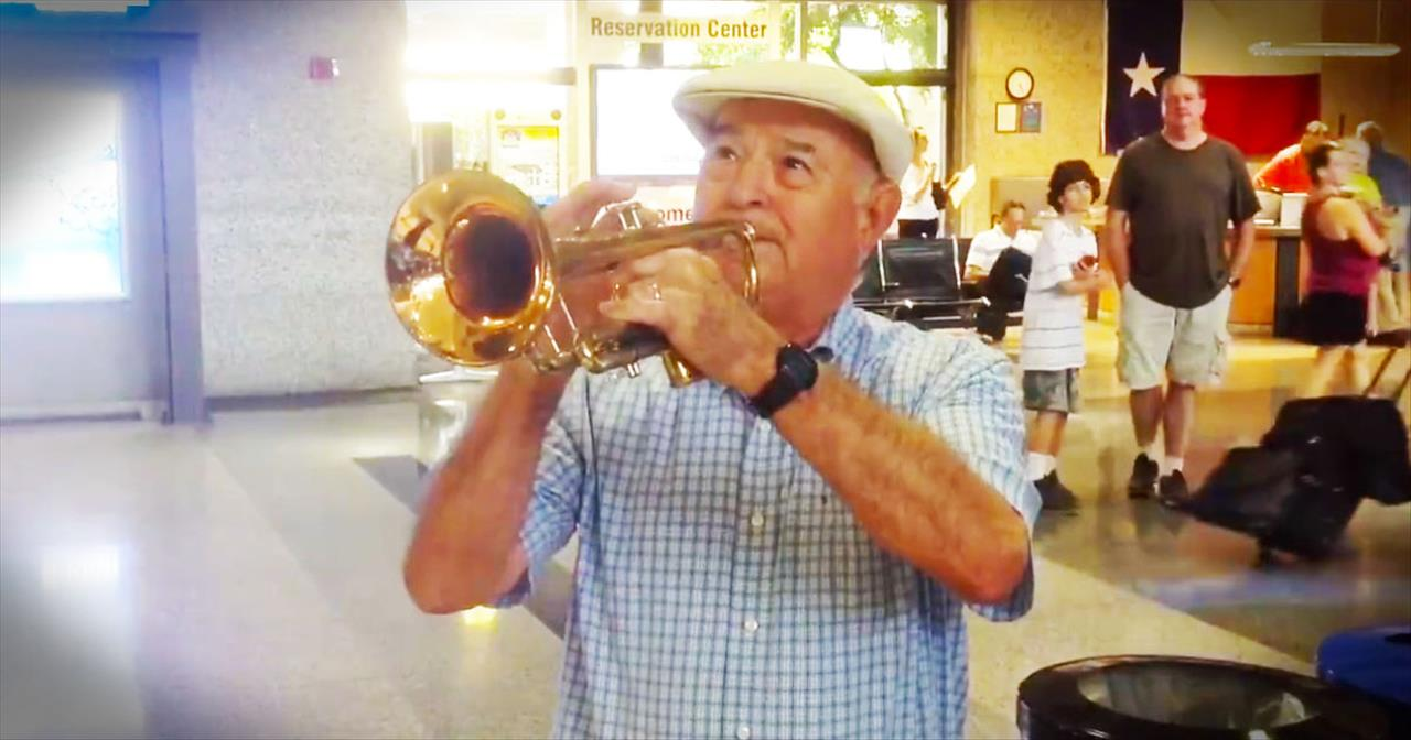 He Surprised His Wife At The Airport With A Beautiful Serenade. Oh My WOW!