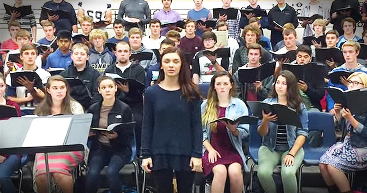 Choir Sings 'Be Still My Soul' After Oregon College Shooting