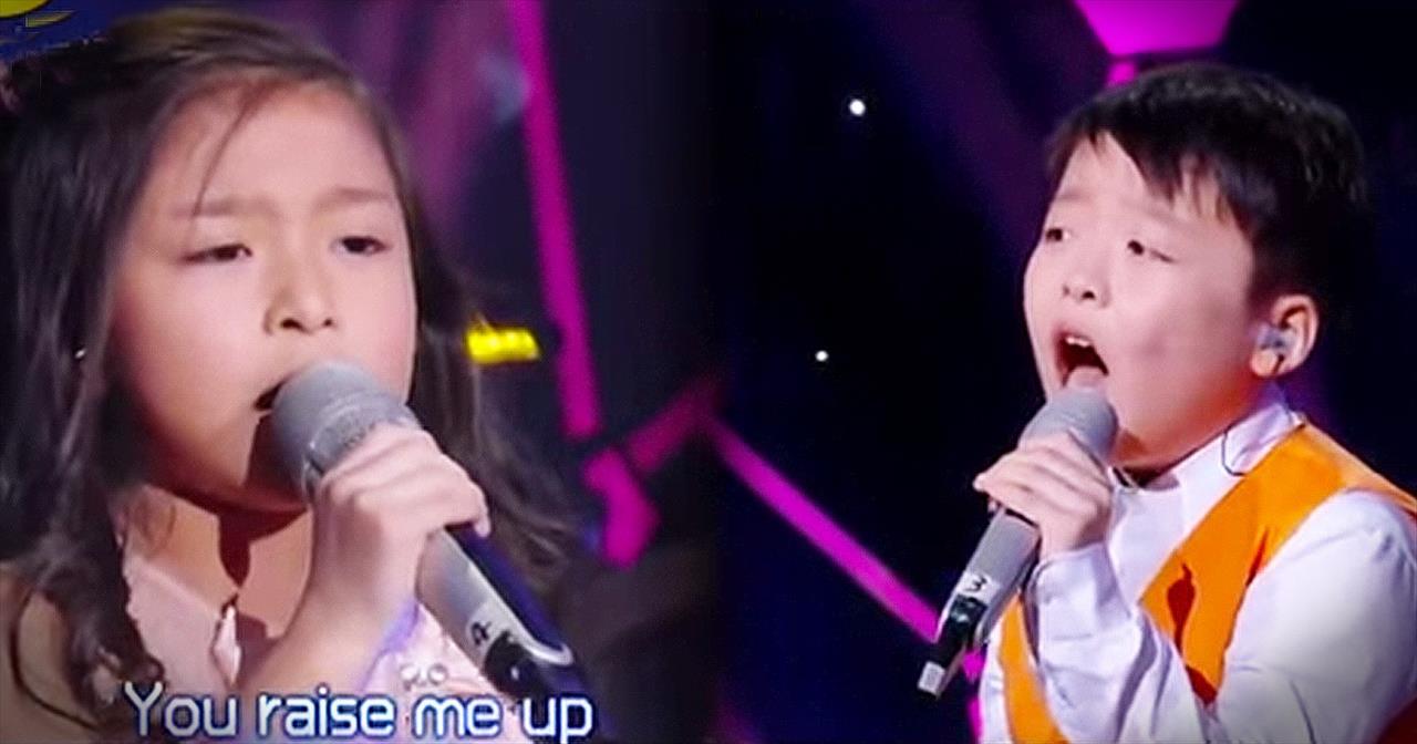 2 Children Sing 'You Raise Me Up' – I've Got CHILLS!