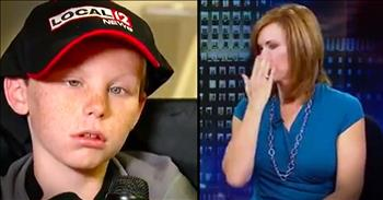 News Anchor Breaks Down Over Little Boy Praying For A Miracle