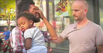 Homeless Single Father Surprised With $1000
