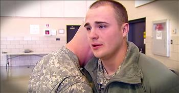 Twin Brothers Are Tearfully Separated During Deployment