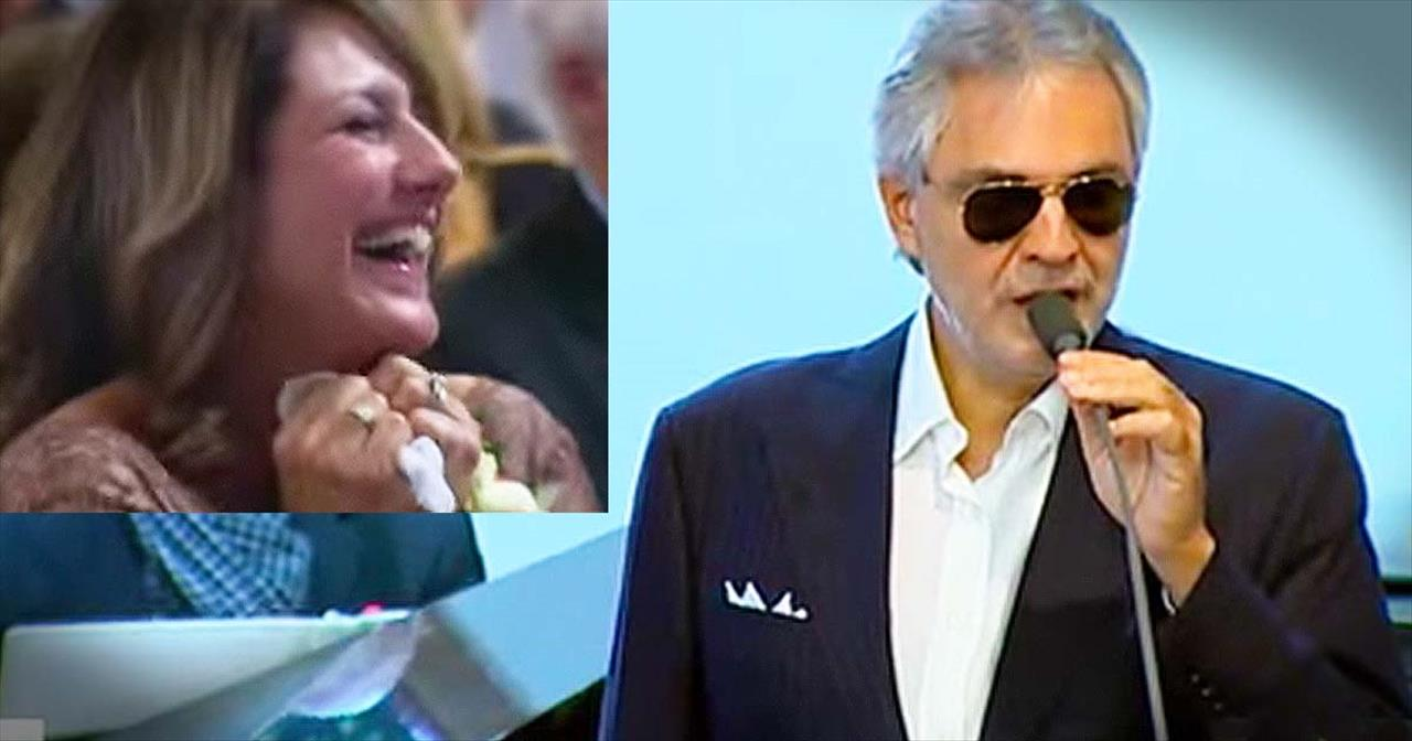 Andrea Bocelli Surprises Bride With Concert At Wedding