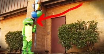 Navy Mom Surprises Son During Ninja Turtle Birthday Party