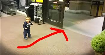 Little Boy Discovers Automatic Doors – So Cute!