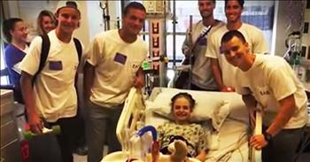 Fraternity Sparks Heartwarming Friendship With 12-Year-Old Cancer Patient
