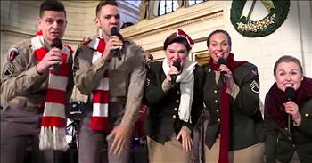 Christmas Flash Mob Will Take You WAY Back!