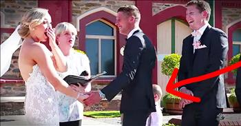 Ring Bearer Interrupts Wedding For Hilarious Reason!