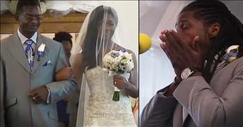 Groom Quotes Scripture As Bride Walks Down Aisle