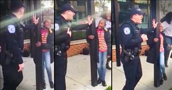Police Officer Sings 'Let It Go' For Young Girl's Birthday