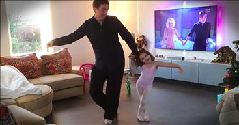Father And Daughter's Dance Routine Is The Sweetest!