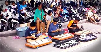 Young Street Musicians Wow With Unique Performance
