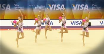 5 Gymnasts Each Held A Pink Ball What Happened Next – WHOA!