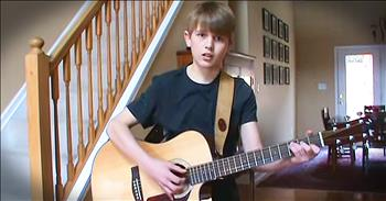 13-Year-Old Country Boy Has Some Serious Talent