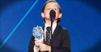 Little Boy's Big Gratitude During Speech Will Melt Your Heart