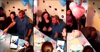 Daddy-To-Be's Reaction To Gender Reveal Is PRICELESS!