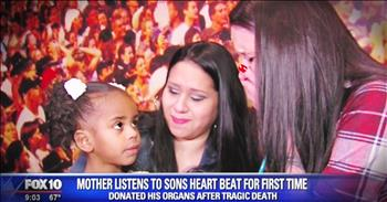 Mother Hears Son's Heartbeat In Little Girl He Saved