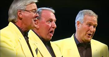 Barbershop Quartet Sings 'Put Your Head On My Shoulder'