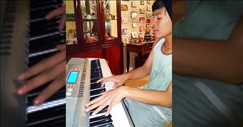 Young Boy Plays Piano Rendition Of 'You Are So Beautiful'
