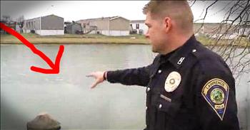 Police Officer Saves 14-Year-Old Boy Who Falls In Pond