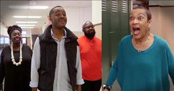 Students Sing 'Amazing Grace' To Teacher Battling Cancer