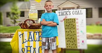 11-Year-Old Starts Lemonade Stand For A Good Cause