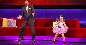 Sassy Little Dancers Has Hilarious Dance Off With Steve Harvey