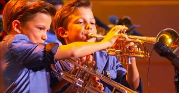 Brass Trumpet Performance From 11-Year-Old Twins Is Out Of This World!