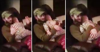 Baby Girl Doesn't Want Daddy To Stop Hugging Her - AWW!