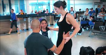 Sweet Airport Proposal Will Leave You With Butterflies