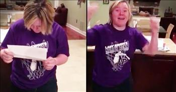 Student With Down Syndrome Has Priceless Reaction To College Acceptance