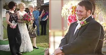 Paralyzed Groom Stands Up To Watch Bride Walk Down The Aisle