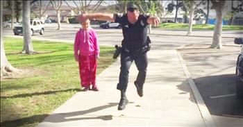 Police Officer's Hopscotch Act Of Kindness Will Make You Smile