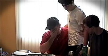 Step-Dad Breaks Down After Receiving Adoption Papers From Step-Son