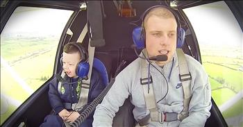 Pilot's Flight With His Little Brother Is Too Cute To Miss