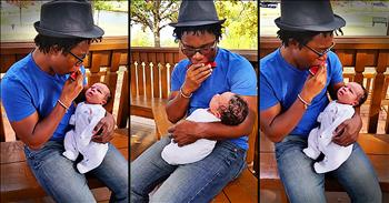 Dad Plays Newborn Son Precious Harmonica Song