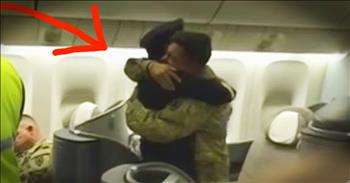 Pilot Surprises Son On Flight Home From Deployment