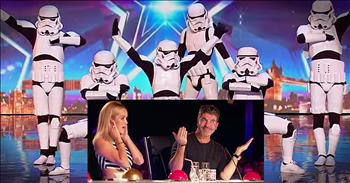 Stormtrooper Dance Troupe Gets Simon Seal Of Approval